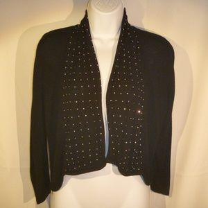 (EUC) H&M Divided Black Shrug with Silver Jewels